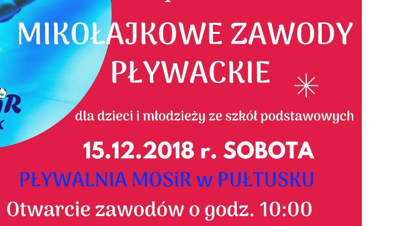 Zaproszenia, Mikołajkowe zawody pływackie ZAPROSZENIE - zdjęcie, fotografia