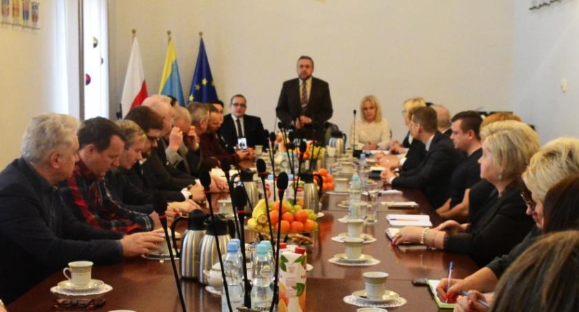 Samorząd, Noworoczne spotkanie burmistrzem Wojciechem Gregorczykiem - zdjęcie, fotografia