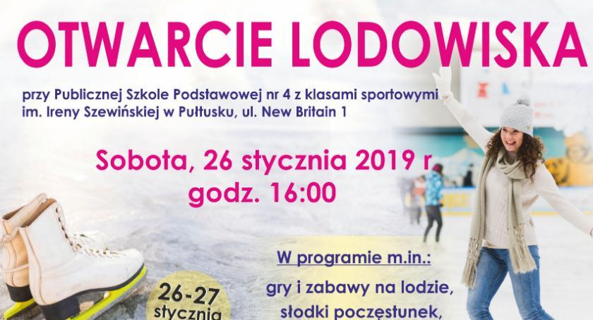 Zaproszenia, Otwarcie lodowiska sobotę! - zdjęcie, fotografia