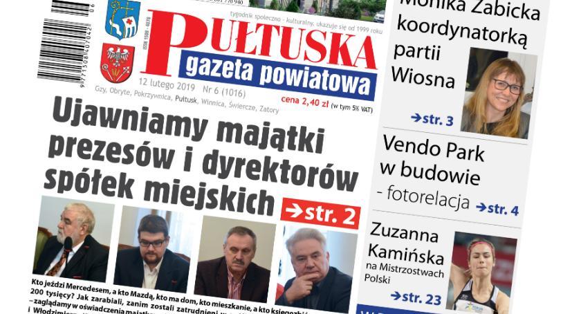 W aktualnym numerze PGP, dzisiejszym numerze Pułtuskiej Gazety Powiatowej - zdjęcie, fotografia