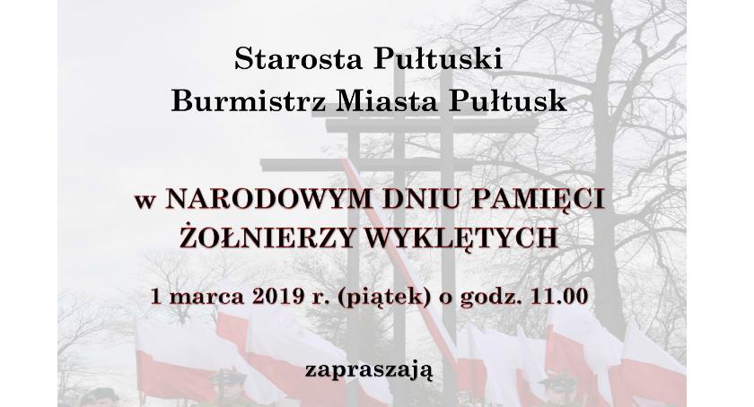 Zaproszenia, Narodowy Dzień Pamięci Żołnierzy Wyklętych ZAPROSZENIE - zdjęcie, fotografia