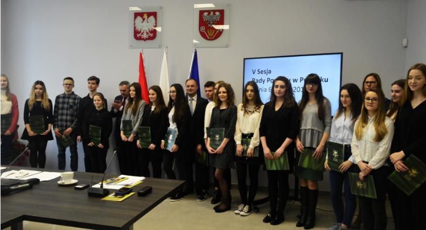 Edukacja, Stypendyści Starosty Pułtuskiego - zdjęcie, fotografia