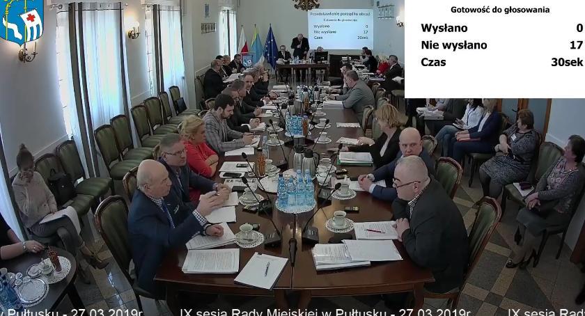Samorząd, Sesja Miejskiej Pułtusku - zdjęcie, fotografia