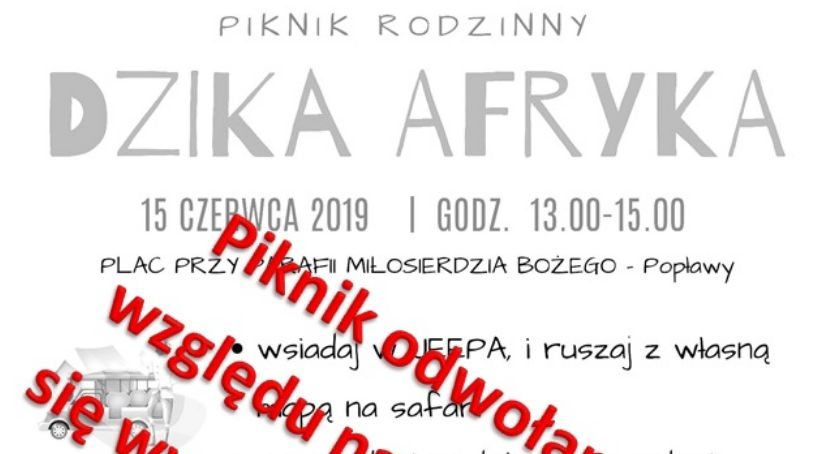 Komunikaty, Piknik Popławach odwołany! - zdjęcie, fotografia