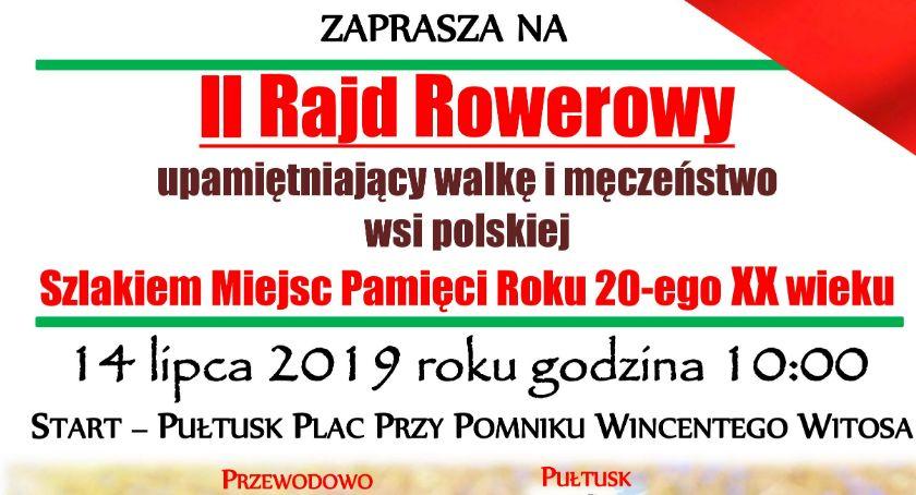 Zaproszenia, rowerowy upamiętniający walkę męczeństwo polskiej ZAPROSZENIE - zdjęcie, fotografia