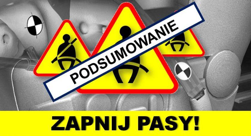 """Komunikaty policji, Policjanci podsumowują działania """"PASY"""" - zdjęcie, fotografia"""