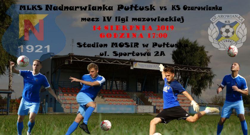 Piłka nożna, Zaproszenie Nadnarwianka Pułtusk Ożarowianka - zdjęcie, fotografia