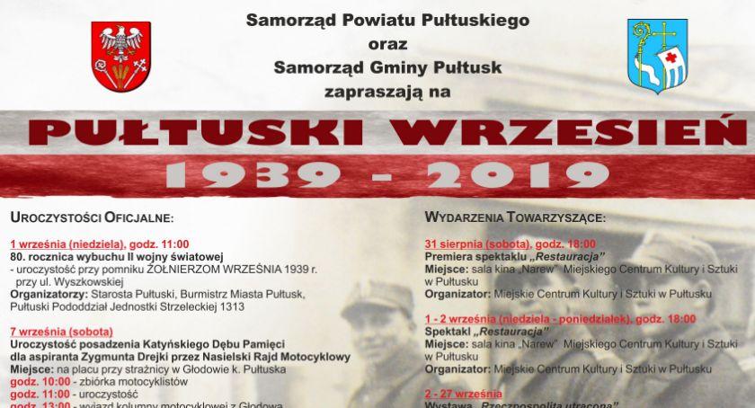 Zaproszenia, Pułtuski Wrzesień ZAPROSZENIE - zdjęcie, fotografia