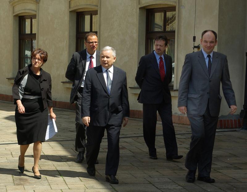 Wybory, Jarosław Kaczyński Pułtusku - zdjęcie, fotografia
