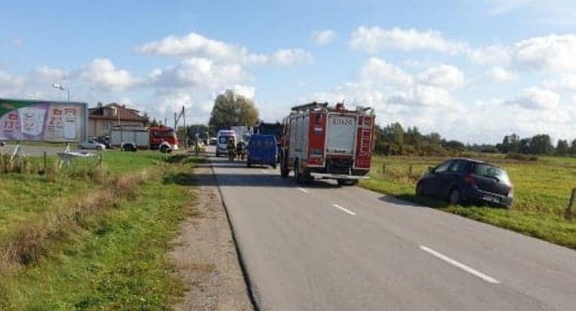 Policja, Wypadek Obrytem - zdjęcie, fotografia