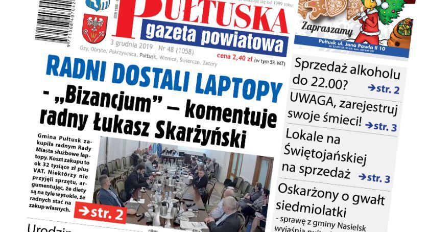 W aktualnym numerze PGP, jutrzejszym numerze Pułtuskiej Gazety Powiatowej - zdjęcie, fotografia