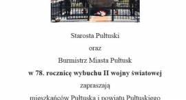 1 września w Pułtusku - zaproszenie