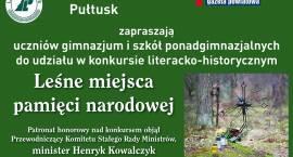 """""""Leśne miejsca pamięci narodowej"""" - konkurs literacko – historyczny"""