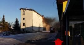 Pożar pustostanu na Warszawskiej