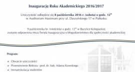 Inauguracja roku akademickiego na AH