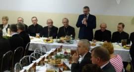 Wigilijne spotkanie z biskupem Piotrem Liberą