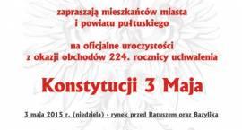 Uroczystości z okazji uchwalenia Konstytucji 3 Maja