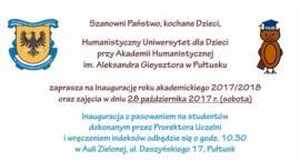 AH zaprasza na inaugurację Humanistycznego Uniwersytetu dla Dzieci