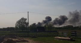 Pożar złomowiska w Obrytem