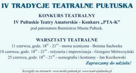 Warsztaty teatralne w MCKiS ZAPROSZENIE