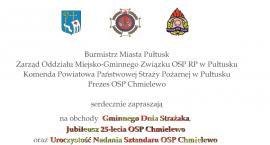 Zaproszenie na Gminny Dzień Strażaka