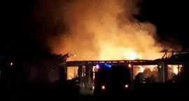 Pożar stodoły w Górkach