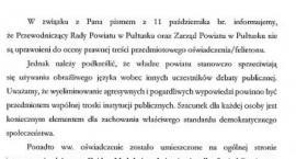 Władze powiatu o artykułach zamieszczanych na stronie Gajda-Med