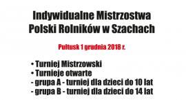 Mistrzostwa Polski w szachach już w sobotę