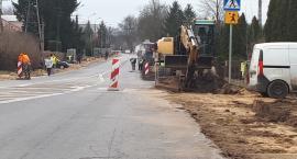 Trwa przebudowa drogi w centrum Winnicy