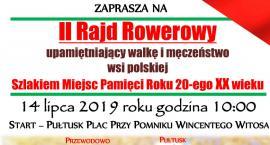 Rajd rowerowy upamiętniający walkę i męczeństwo wsi polskiej - ZAPROSZENIE
