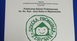Szkoła w Błędostowie otrzymała Certyfikat Szkoły Promującej Zdrowie