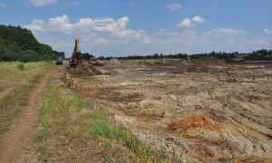 Archiwum Aktualności, Rozpoczęto budowy zbiornika retencyjnego - zdjęcie, fotografia