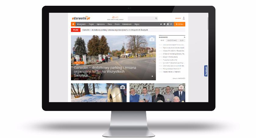 Zdjęcie strony głównej portalu eGarwolin w nowej odsłonie