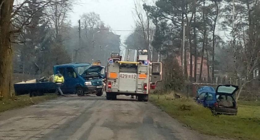 Wypadki drogowe , Zderzenie Gózdku Mandat punkty sprawcy - zdjęcie, fotografia