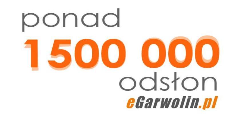 Pierwszy 1 000 000 odsłon eGarwolin.pl