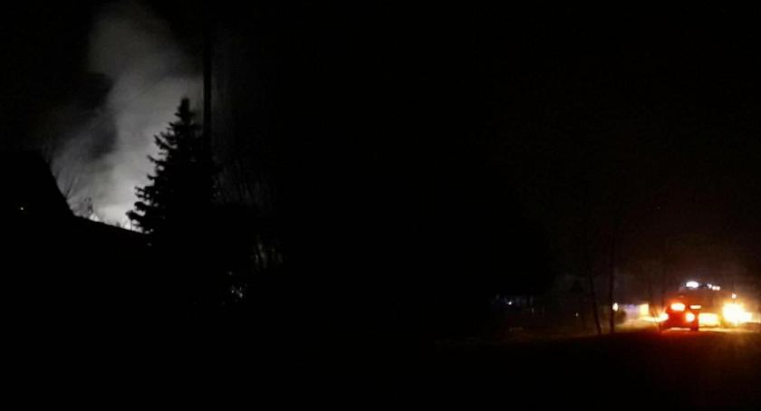 Pożary - interwencje straży, Górzno Pożar piekarni Chęcinach - zdjęcie, fotografia