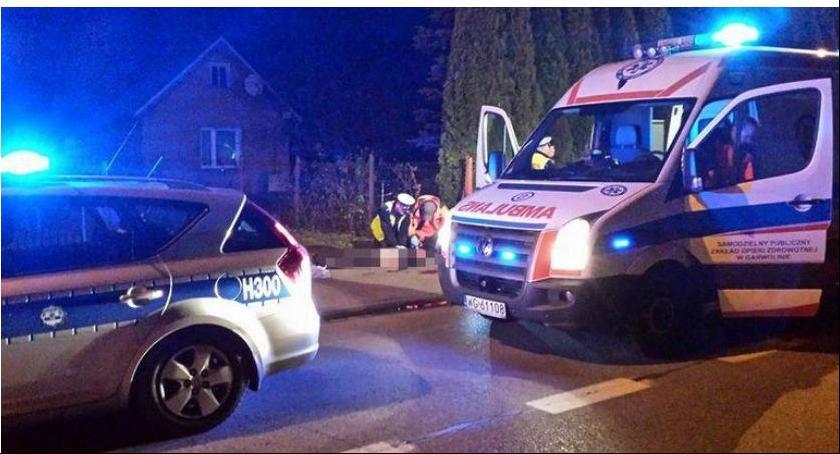 Wypadki drogowe , Potrącił rowerzystę uciekł policja poszukuje świadków wypadku - zdjęcie, fotografia