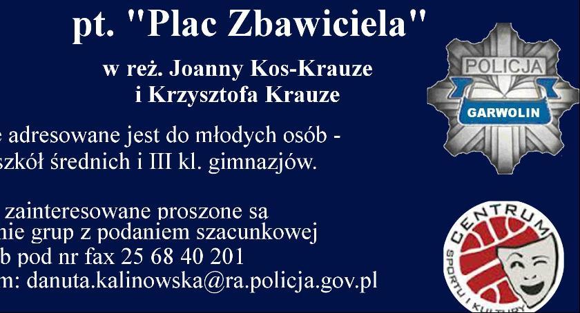 Spotkania, Garwolin Zaproszenie spotkanie przemocy projekcję filmu - zdjęcie, fotografia