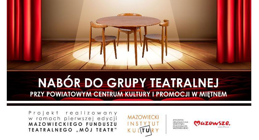 Teatr, Miętnem zapraszają dzieci młodzież stołu - zdjęcie, fotografia
