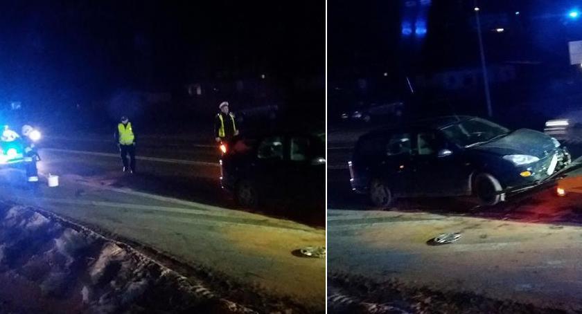 Wypadki drogowe , Kolizja Lipówkach Sprawca pijany - zdjęcie, fotografia