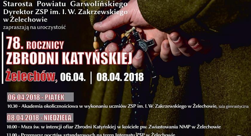 W Powiecie, rocznica zbrodni katyńskiej Żelechowie - zdjęcie, fotografia
