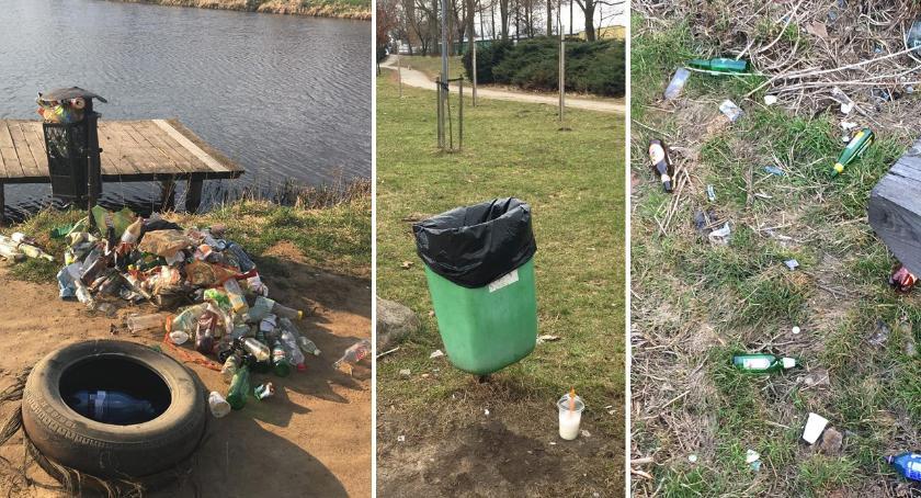 Interwencje Miejskie, Garwolin Zarzecze miasto tonie śmieciach - zdjęcie, fotografia