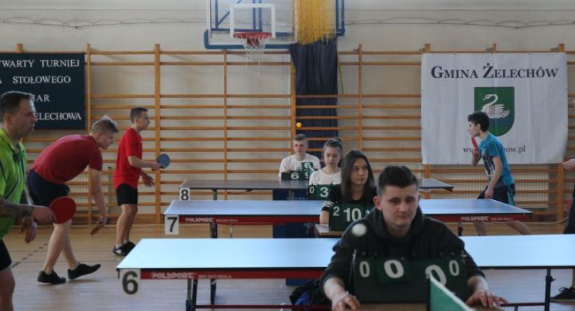 Inne Dyscypliny, XXIII Otwarty Turniej Tenisa Stołowego Puchar Burmistrza Żelechowa - zdjęcie, fotografia