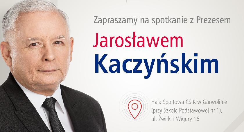 W Garwolinie, Spotkanie Jarosławem Kaczyńskim - zdjęcie, fotografia