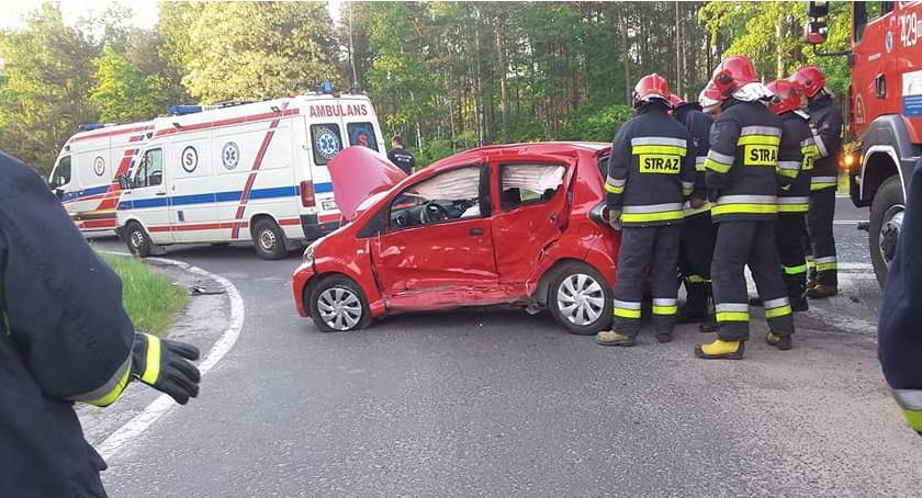 Wypadki drogowe , Kolizja skrzyżowaniu Wildze sprawczyni szpitalu - zdjęcie, fotografia