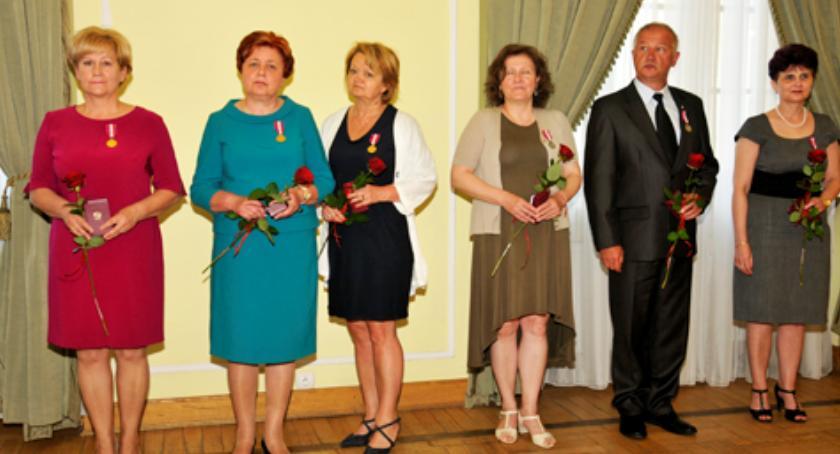 Inne Ciekawostki, Złoty Medal Prezydenta Długoletnią Służbę Albiny Łubian - zdjęcie, fotografia