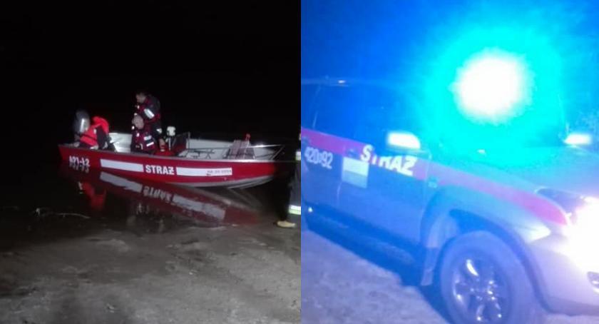 Pożary - interwencje straży, Poszukiwania zaginionego mężczyzny Wisłą - zdjęcie, fotografia