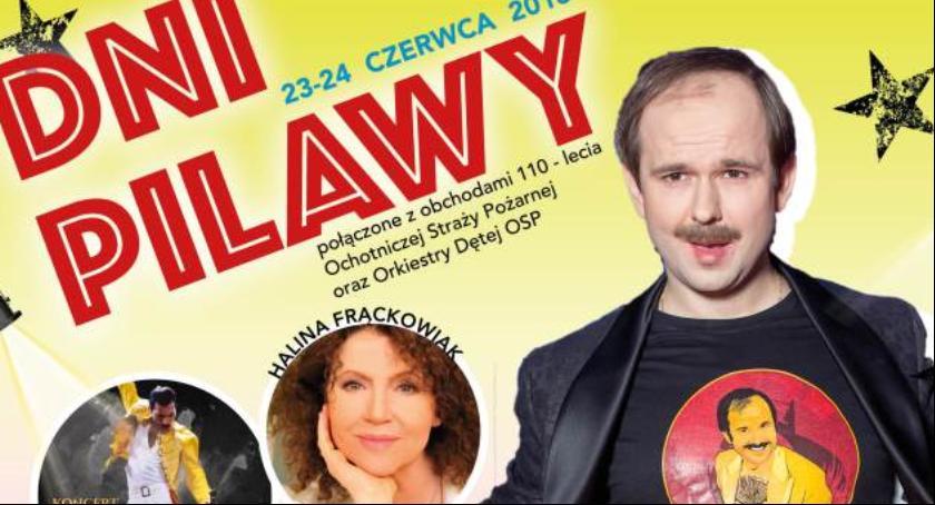 Festyny - Pikniki, Sławomir Halina Frąckowiak gwiazdami Pilawy program imprezy - zdjęcie, fotografia