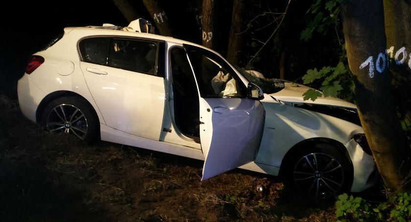 Wypadki drogowe , Wypadek zderzenie łosiem kierowca szpitalu - zdjęcie, fotografia