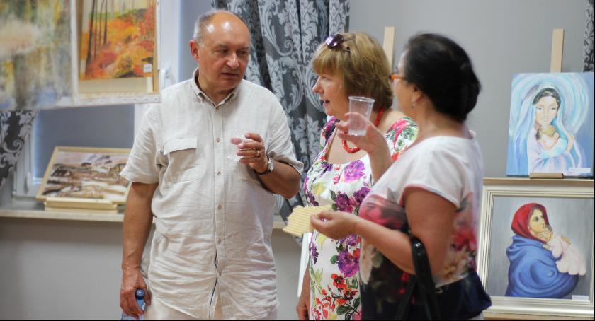 Wystawy, Wernisaż zwieńczeniem kursu rysunku malarstwa - zdjęcie, fotografia